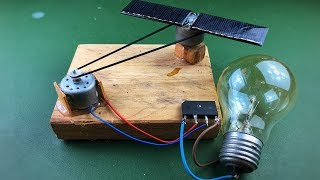 Download Solar Energy , Electricity Free Energy Generator With Light Bulb Using DC Motor Video