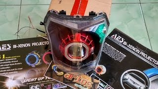 Download HID projector installation into Motorcycle New Vixion Video