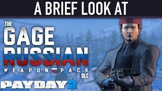 Download A brief look at The Gage Russian Weapon Pack DLC. [PAYDAY 2] Video