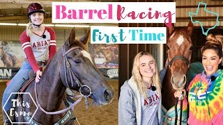 Download Learning to BARREL RACE for the FIRST TIME with FALLON TAYLOR | This Esme Video