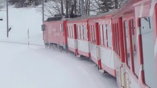 Download Swiss Trains in the Snow Video