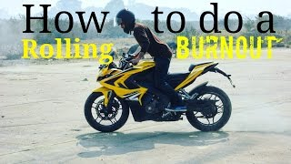 Download How to do a rolling burnout Video