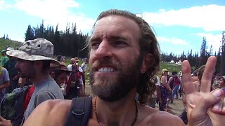 Download Tour of a Rainbow Gathering: Hippie Festival in the Woods Video