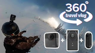 Download 360 Travel Vlog - Cypress Mountain Snowboarding with GoPro Fusion, Yi 360 VR, Insta360 ONE Video