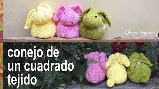 Download Conejo hecho de un cuadrado tejido - Tejiendo Perú Video