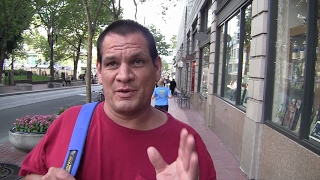 Download Kevin as a union worker and was told his job was safe. He is now homeless in Portland. Video