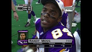 Download Randy Moss vs Cowboys Thanksgiving 1998 - SCORED ON EVERY TARGET! Video