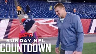 Download Rob Gronkowski and Patriots fan Robbie Barnicoat inspire each other | NFL Countdown | ESPN Video