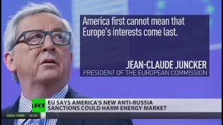 Download 'America 1st cannot mean that Europe's interests come last': Juncker on new anti-Russia sanctions Video