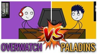 Download OVERWATCH GAMERS VS PALADINS GAMERS Video