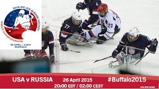 Download USA v Russia | Prelim | 2015 IPC Ice Sledge Hockey World Championships A-Pool, Buffalo Video
