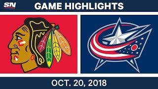 Download NHL Highlights | Blackhawks vs. Blue Jackets - Oct. 20, 2018 Video