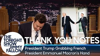 Download Thank You Notes: President Trump Grabbing French President Emmanuel Macron's Hand Video