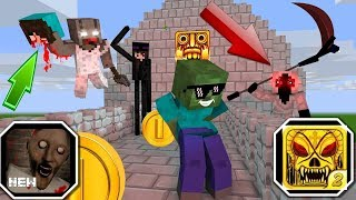Download Monster School : GRANNY VS TEMPLE RUN CHALLENGE - Minecraft Animation Video