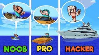 Download Minecraft - NOOB vs PRO vs HACKER - Boat Wars in Minecraft Video