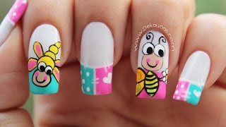 Download Decoracion de uñas caricatura abeja - bee nail art Video