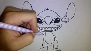 Download สอนวาดรูป การ์ตูน สติทซ์ Stitch วาดการ์ตูนกันเถอะ Video