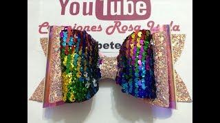 Download Moño de vinil con tela de lentejuela VIDEO No.634 creaciones Rosa Isela Video