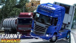 Download Euro Truck Simulator 2 Multiplayer Funny Moments & Crash Compilation #97 Video