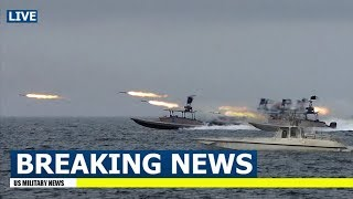 Download Iranian Ships Fire Rockets as US Aircraft Carrier Enters Persian Gulf Video