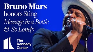 Download So Lonely, Message In a Bottle (Sting Tribute) - Bruno Mars - 2014 Kennedy Center Honors Video