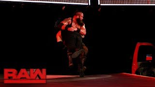 Download Roman Reigns Spears Braun Strowman off the stage: Raw, July 3, 2017 Video