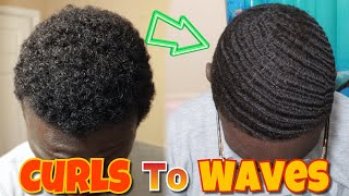 Download HOW I WENT FROM NAPPY CURLS TO 360 WAVES IN UNDER 30 MINUTES | CRAZY CURLS TO WAVES TRANSFORMATION Video