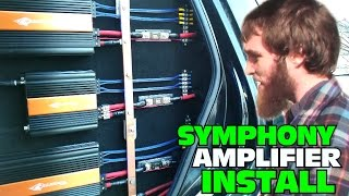 Download Installing Two Channel AMPS w/ Crescendo Audio Symphony Amplifiers | CLEAN & CUSTOM Amp Installation Video
