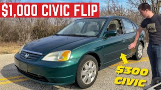 Download Can I MAKE $1,000 Flipping This Honda Civic In ONE Day? Video