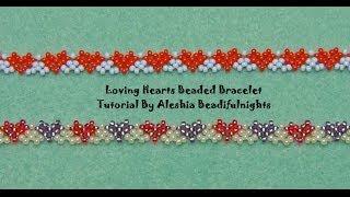 Download Loving Hearts Beaded Bracelet Tutorial Video
