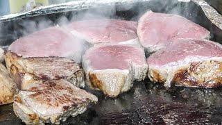 Download London Street Food at Greenwich Market. Huge Steaks, Thai Food, Japanese Tempura and Much More Video