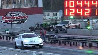 Download Weight Reduction Tesla P100D - Fastest 1/4 Mile Record! Video