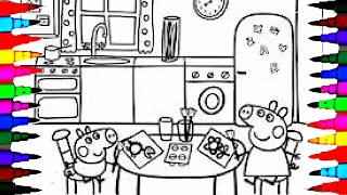Download PEPPA PIG Coloring Book Pages Kids Fun Art Activities Videos for Children Learning Rainbow Colors Video
