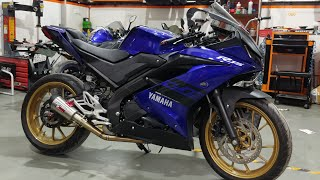 R15 V3 modified exhaust note compilation ( akrapovic, leo