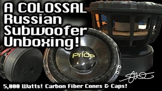 Download A COLOSSAL Russian Subwoofer Unboxing! Pride Car Audio Carbon Fiber 12″ & 15″ - 5,000 Watts Video