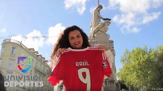 Download Conoce a la más fiel seguidora de Raúl Jiménez en Lisboa Video