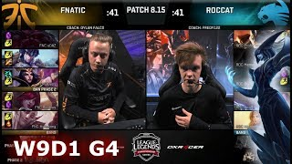 Download Fnatic (w/ Rekkles) vs ROCCAT | Week 9 Day 1 S8 EU LCS Summer 2018 | FNC vs ROC W9D1 Video