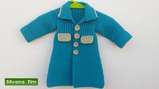 Download Abrigo (tapado) para niña bebé. Tejido con dos agujas # 445 Video