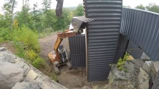 Download Standing up shipping container tower Video