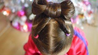 Download Peinado fácil para niñas / Año nuevo / Easy hairstyle bow for girls Video