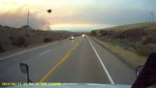 Download Driving through a wildfire on US 95 in Idaho. Video