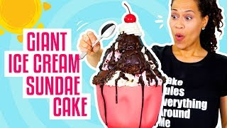 Download How To Make A Giant Ice Cream Sundae out of CAKE for My BIRTHDAY! | Yolanda Gampp | How To Cake It Video