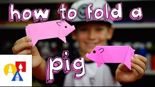 Download How To Fold An Origami Pig Video