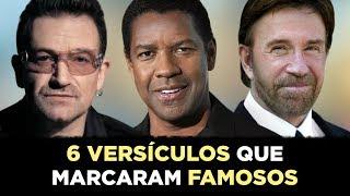 Download 6 VERSÍCULOS QUE MARCARAM A VIDA DE FAMOSOS (A Graça de Deus Pode Alcançar Qualquer Pessoa) Video