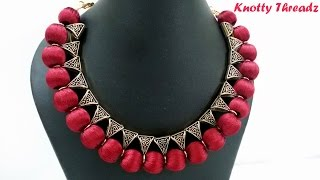 Download How to make an Elegant Silk Thread Bail Necklace - Simple Method !! Video