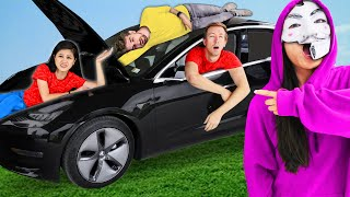 Download HACKERS TRAPPED US IN TESLA FOR 24 HOURS - Challenge Video