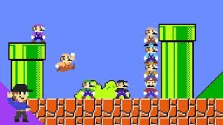 Download What if 8 Marios tried to beat Super Mario Bros.? Video