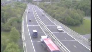 Download **ORIGINAL** Truck blind spot accident caught on police camera Motorway M621 (M62 Crash Leeds UK) Video