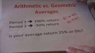 Download Geometric vs. Arithmetic Average Returns Video