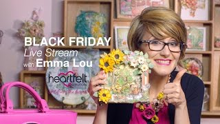 Download Live with Emma Lou ~Techniques with the Foldout Cards and Dies and Handbag Video
